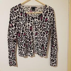 Cheetah print Multicolor cardigan